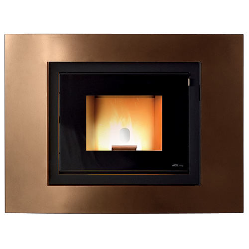 MCZ Vivo Pellet 80 Bronze inbouw pelletkachel